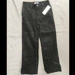 NWT-BOY'S CHAPS BLACK CORDUROY PANTS SZ 5